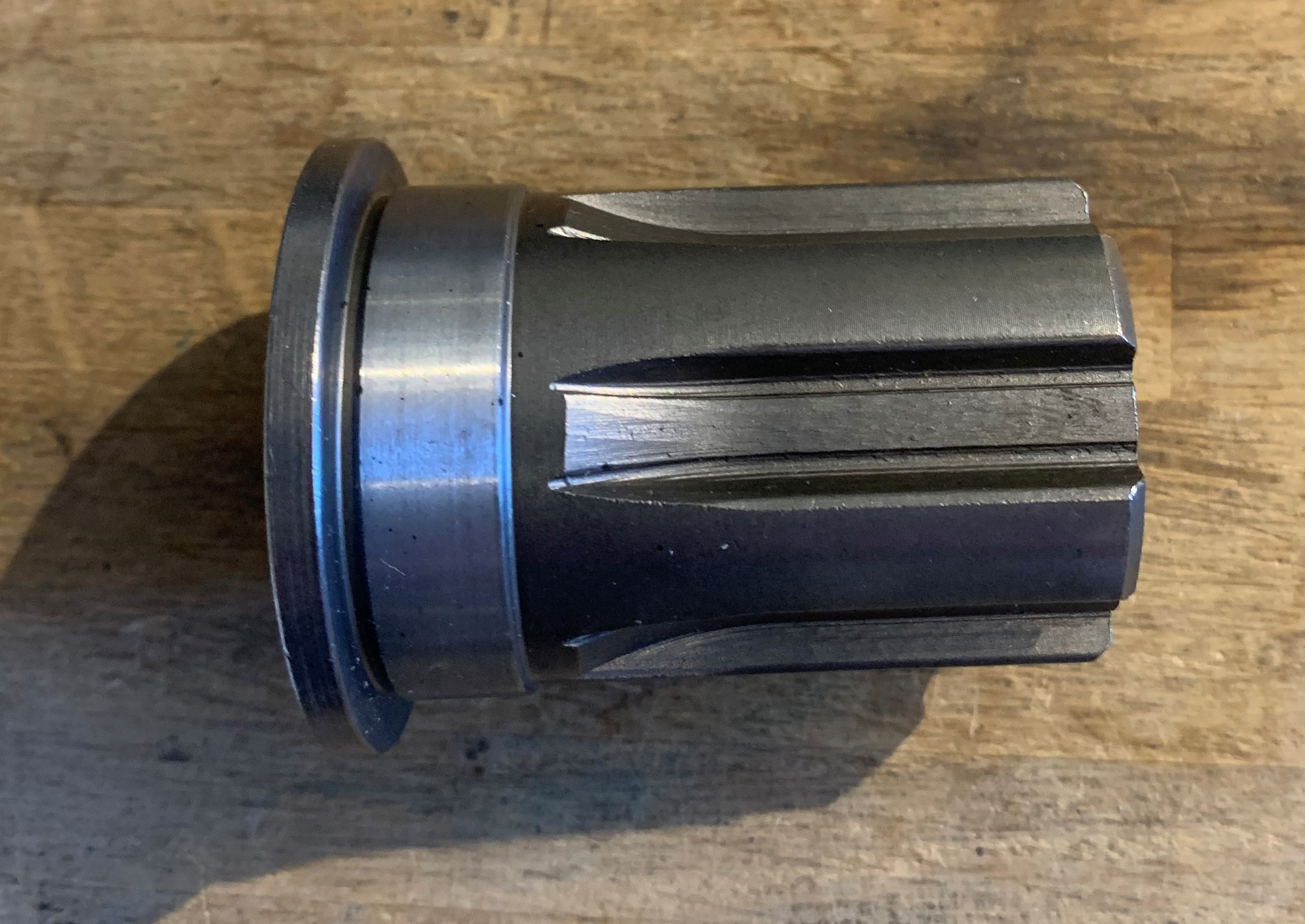 sprocket shaft extended